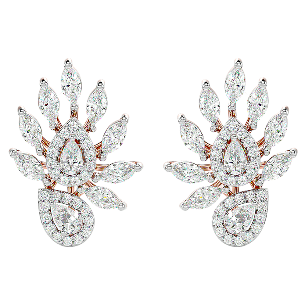 Affectionate Archduchess Diamond Stud Earrings In Pink Gold For Women view 2