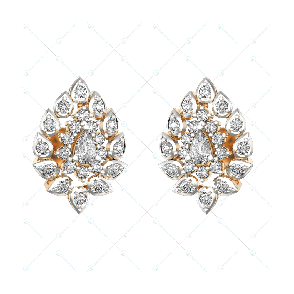0.15 ct Extravagant Ecstasy Solitaire Stud Earrings in Yellow gold for Women v1