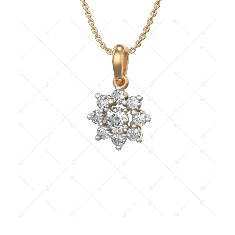 0.30 ct Effulgent Lure Solitaire Pendant in Yellow Gold for Women v1