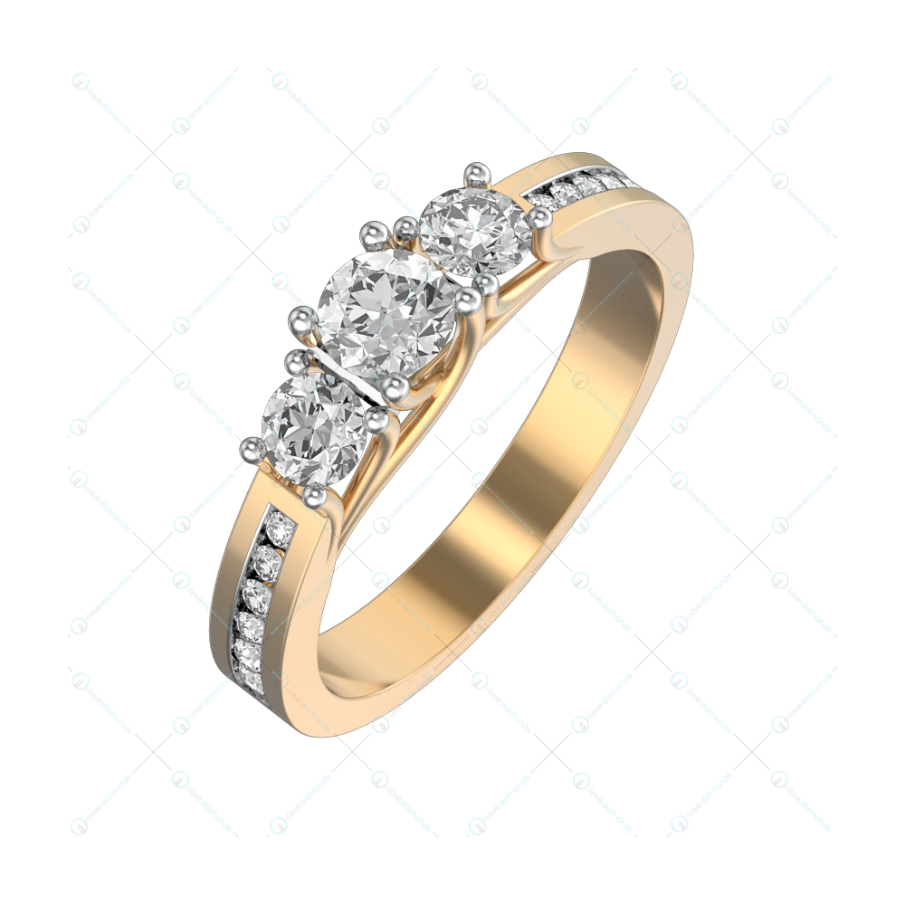 0.25 ct Glimmer Glam Solitaire Engagement Ring in Yellow Gold For Women v1