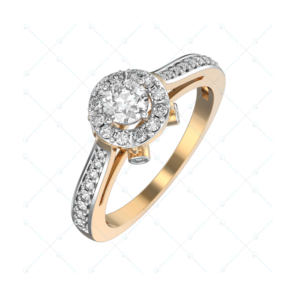 0.20 ct Luminous Lighthouse Solitaire Engagement Ring in Yellow Gold For Women v1