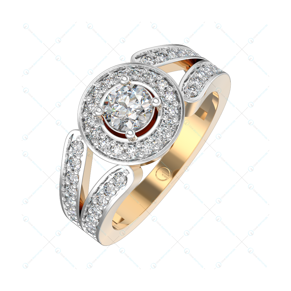 0.30 ct Alluring Akis Solitaire Engagement Ring in Yellow Gold For Women v1