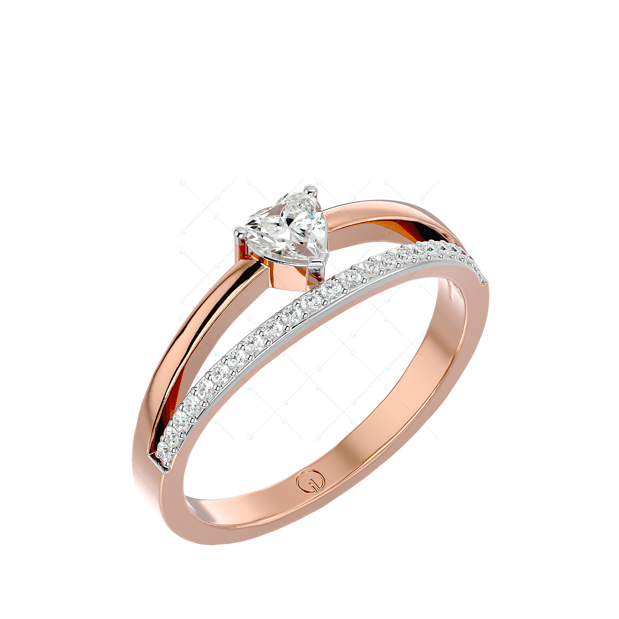 Dreamy Fascinations Solitaire Engagement Ring In Pink Gold For Women v1
