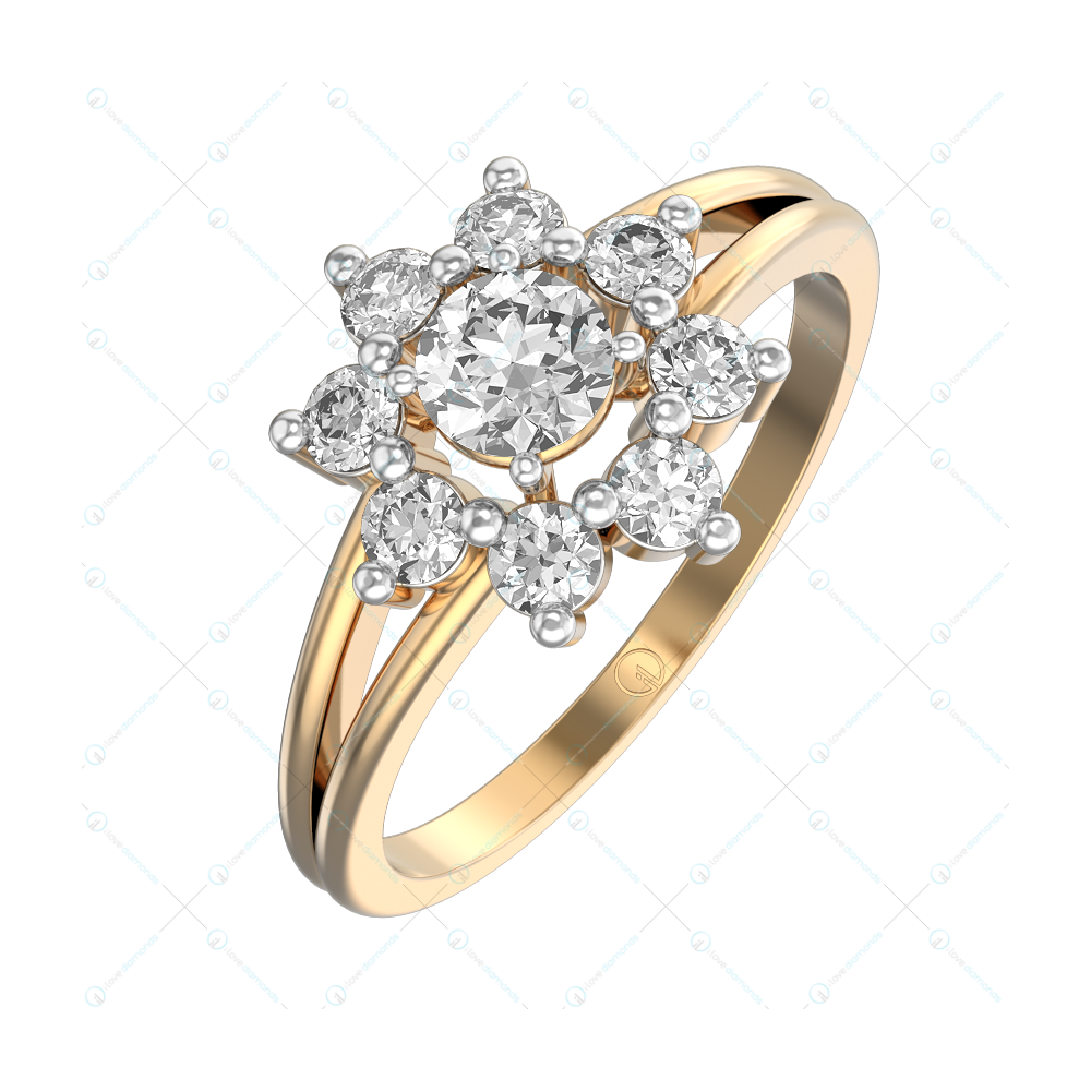 Cassandra Solitaire Engagement Ring in Yellow Gold For Women view 1