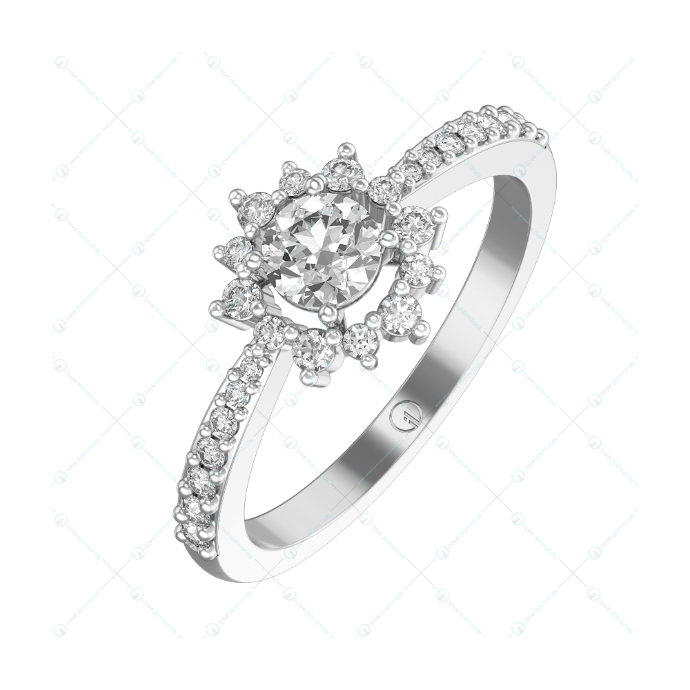 0.30 ct Cecelia Solitaire Engagement Ring in White Gold For Women v1