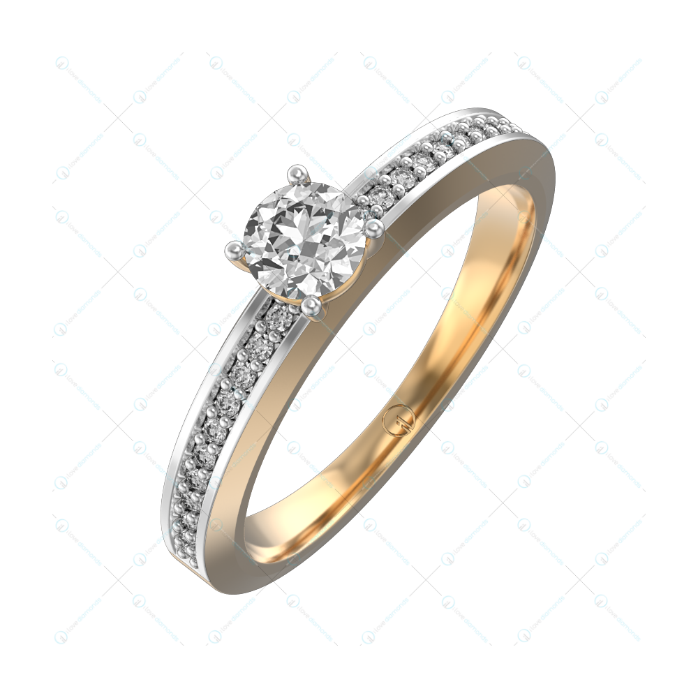 0.30 ct Chloe Solitaire Engagement Ring in Yellow Gold For Women v1