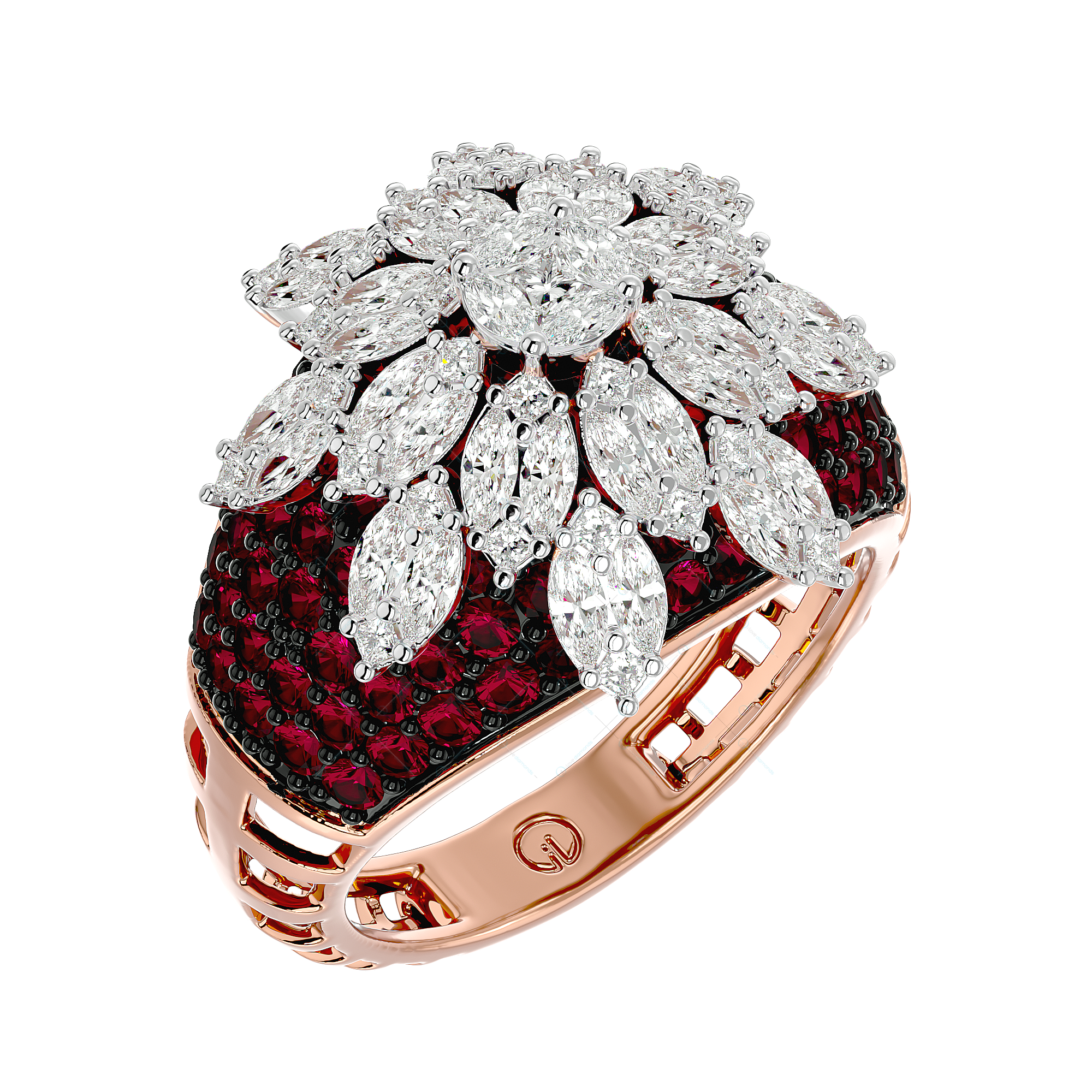 Empress Enchantments Diamond Ring In Yellow Gold For Women v1