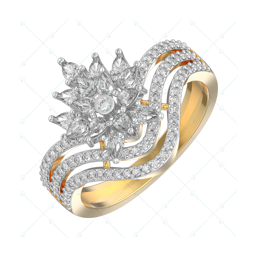 Admirable Aphrodite Diamond Ring In Yellow Gold For Women v1