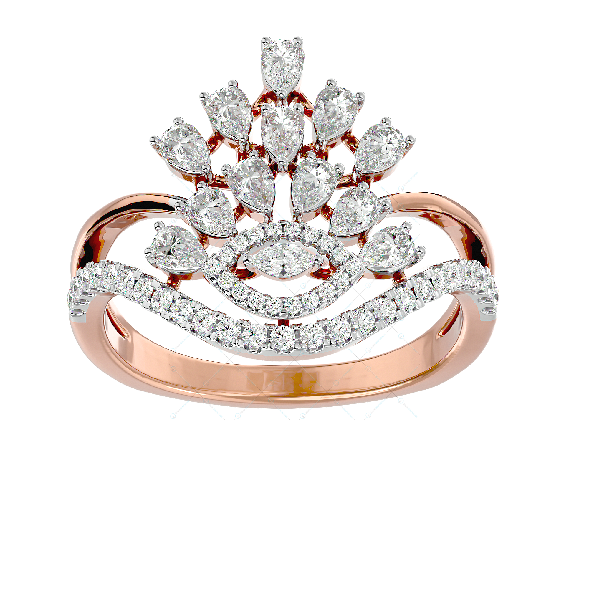 Princess Possession Diamond Ring In Yellow Gold For Women v2