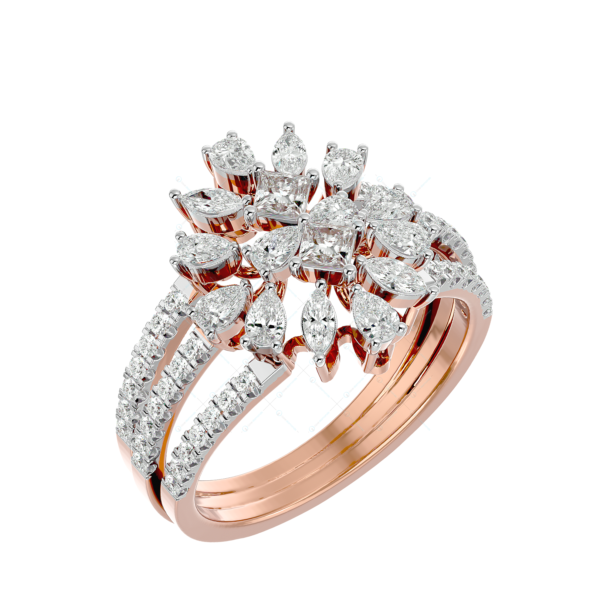 Heavenly Coruscations Diamond Ring In Yellow Gold For Women v1