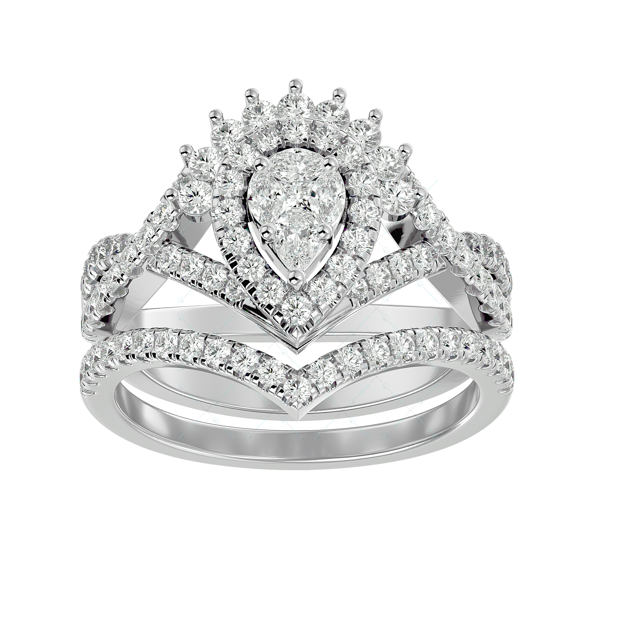 Graceful Gloria Solitaire Illusion Diamond Ring in White Gold for Women v2