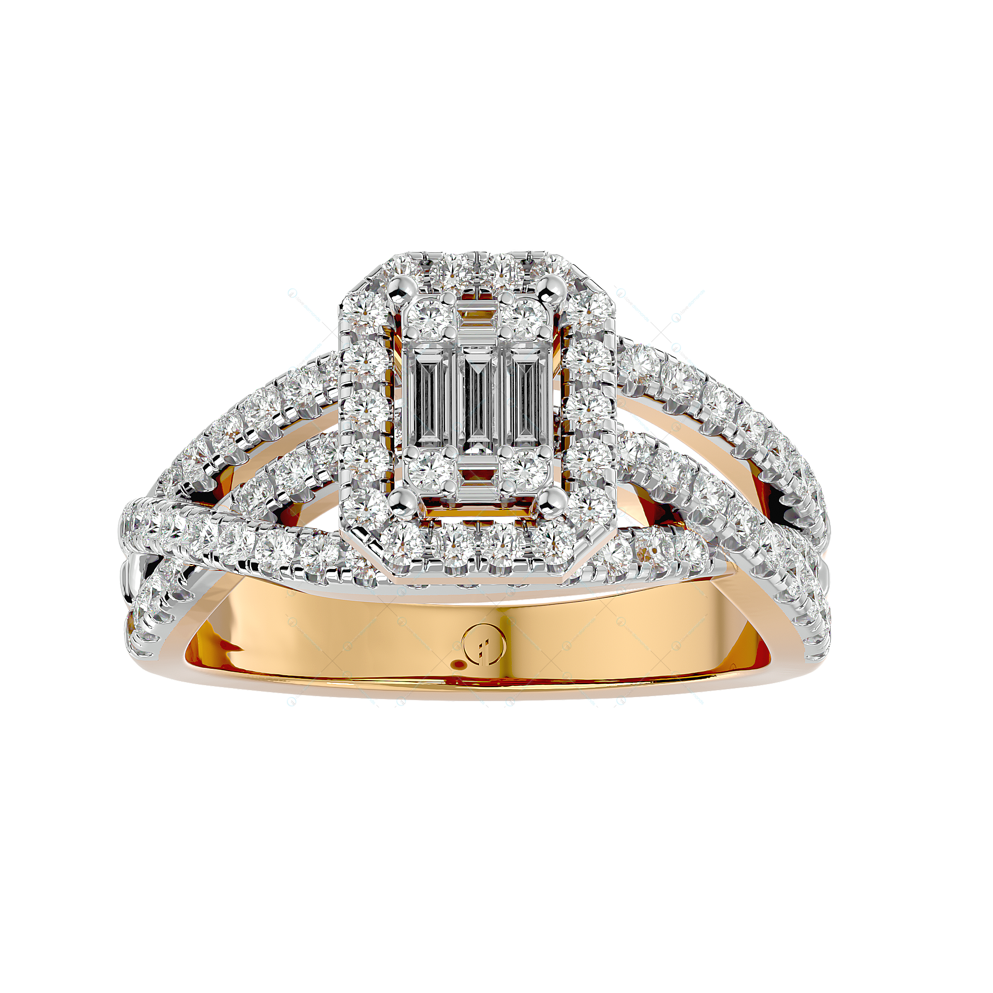 Sassy Chic Solitaire Illusion Diamond Ring in Yellow Gold for Women v2