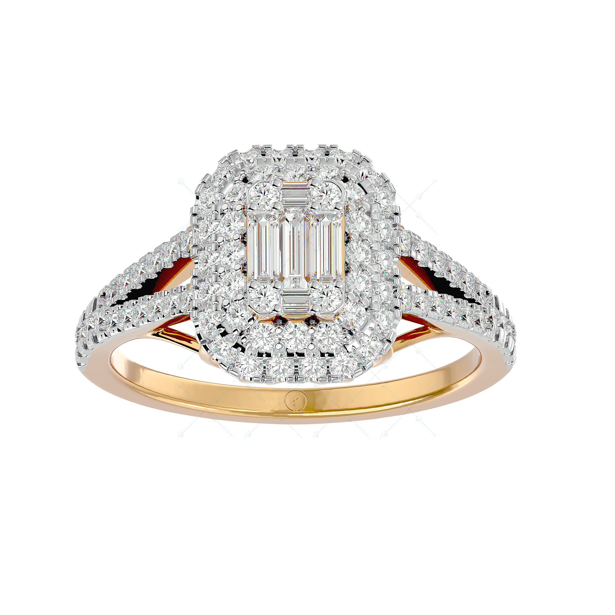 The Enchantress Solitaire Illusion Diamond Ring in Yellow Gold for Women v2