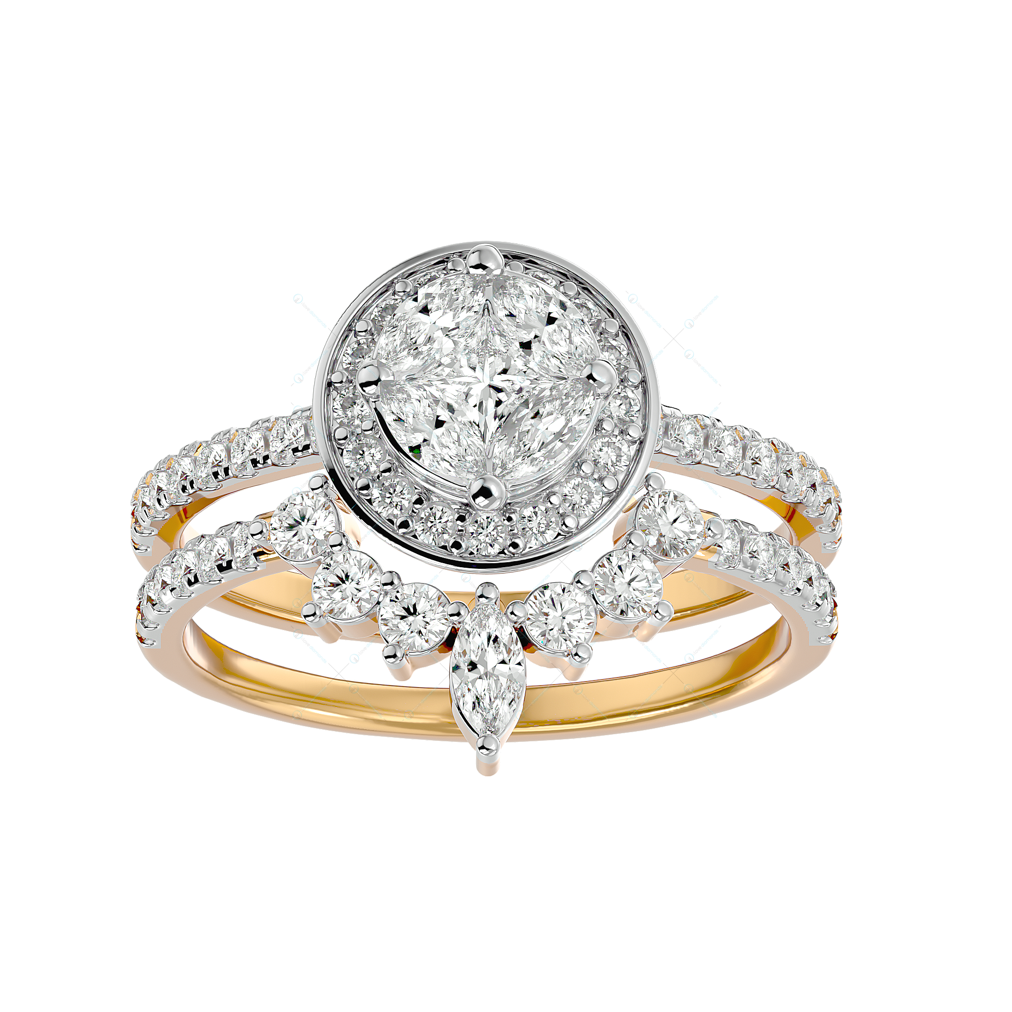 Bountiful Beauty Solitaire Illusion Diamond Ring in Yellow Gold for Women v2