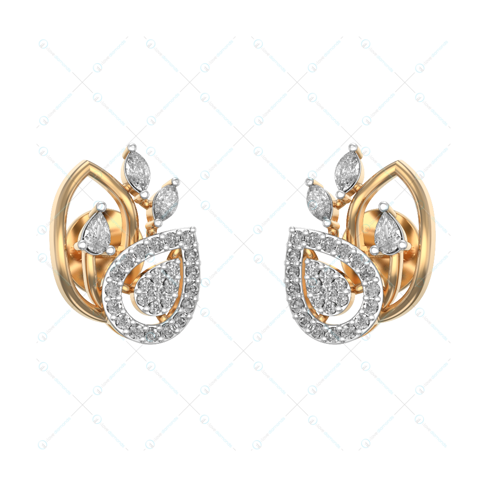 Resplendent Daily Dazzle Studs In Yellow Gold For Women v1