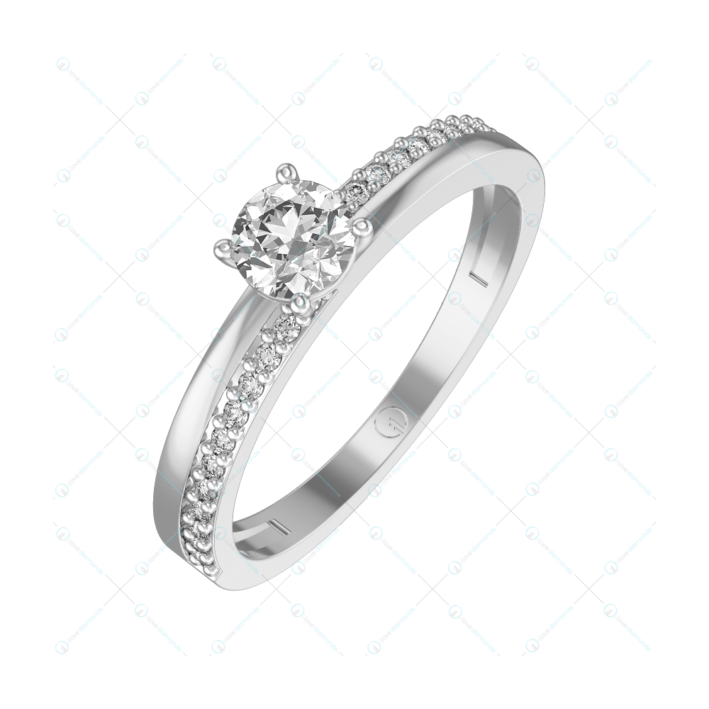 0.30 ct Angelic Radiance Solitaire Engagement Ring in White Gold For Women v1