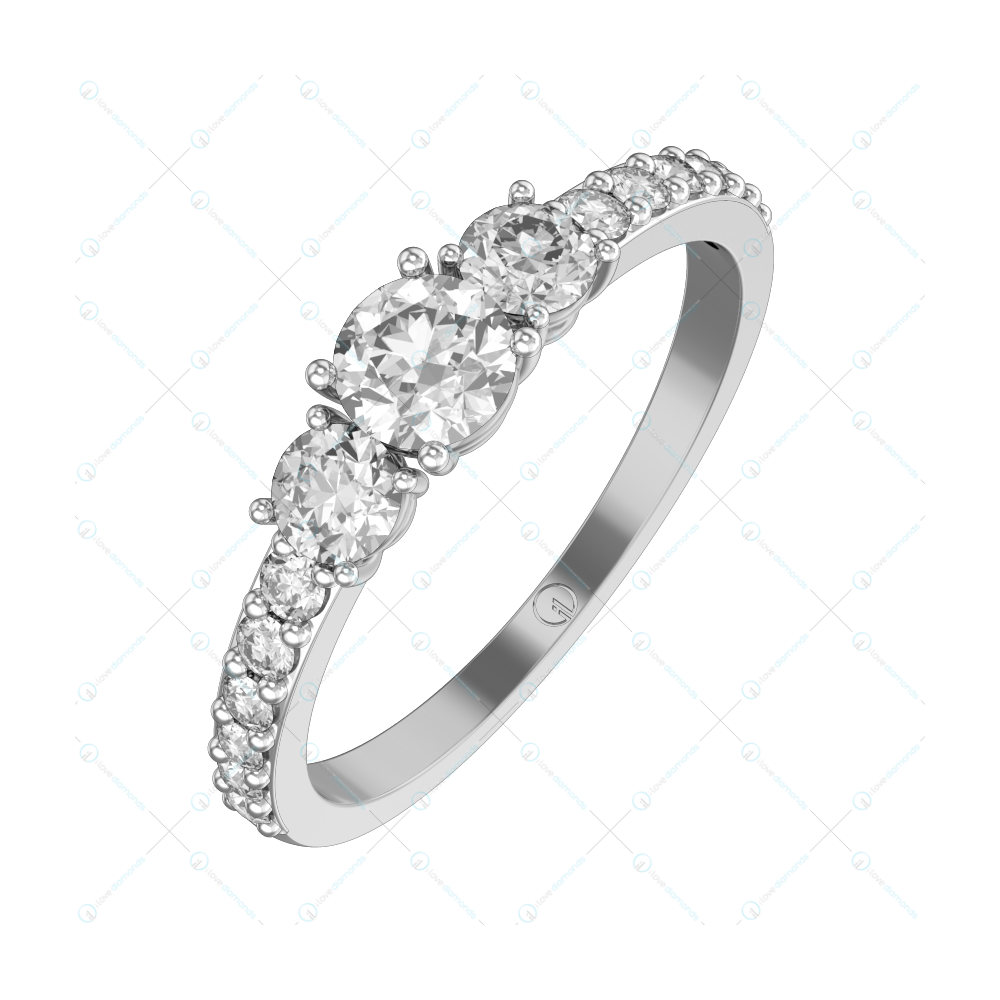 0.30 ct Raziel Solitaire Engagement Ring in White Gold For Women v1