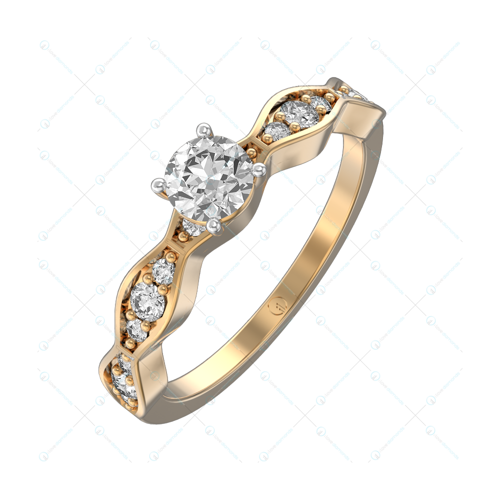 0.30 ct Romantic Rhapsody Solitaire Engagement Ring in Yellow Gold For Women v1