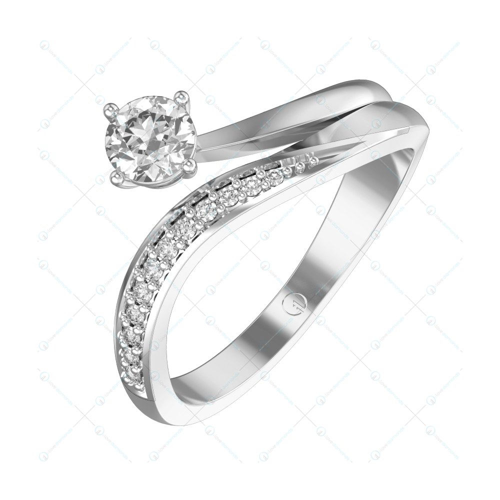 0.30 Tranquil Tethys Solitaire Engagement Ring in White Gold For Women v1