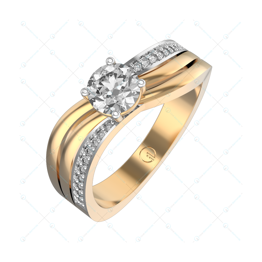0.40 ct Sophia Solitaire Engagement Ring in Yellow Gold For Women v1